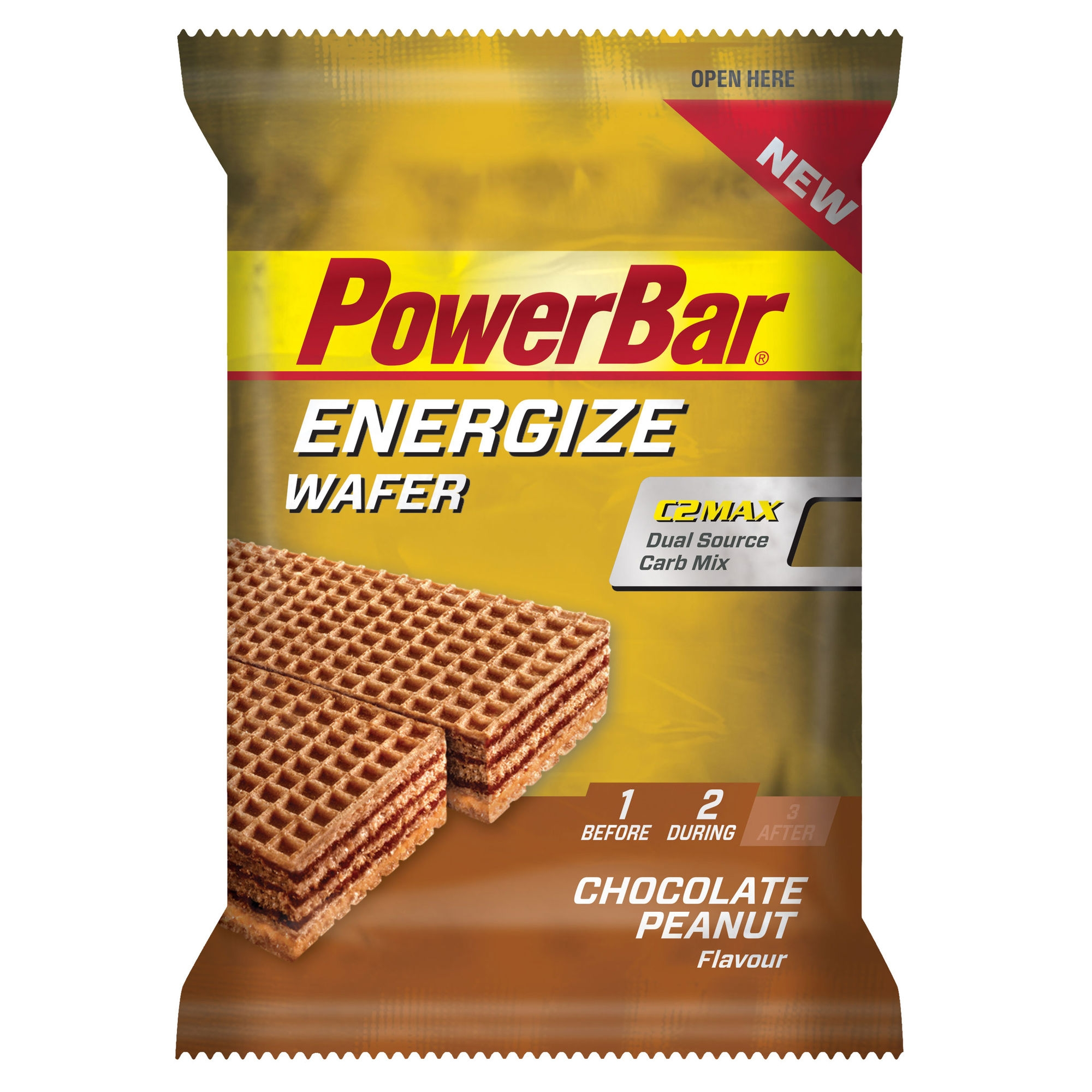PowerBar Energize Wafer Choclate Peanut 40g